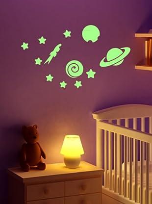 Ambiance-Sticker Vinilo Adhesivo De Planetas Y Estrellas (Luminiscente)