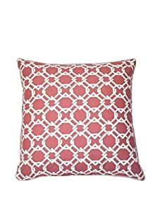 """Lacefield Designs Keenland Geometric 20"""" x 20"""" Pillow, Spiced Coral"""