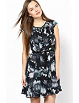 Black Cap Sleeves Dress