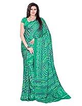 Rajasthani Light Green Color MOSS Bandhani