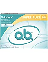 o.b. Applicator Free Digital Tampons, Super Plus  - 40 Count