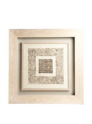 Saro Lifestyle Natural Framed Light Square Paper Art