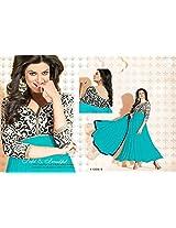 Krazzy2buy gorgeous Sushmita Sen Sky Blue semi stitched Anarkali Salwar Suit