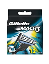 Gillette Mach3 Blades - 12 Cartridges