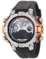 Armitron Sport Men's 40/8251ORG Orange Accented Digital Chronograph Black Resin Strap Watch