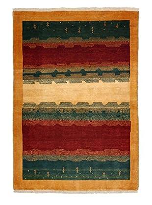 Darya Rugs Authentic Persian Rug, Rust/Green, 3' x 5'
