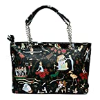 BagaHolics Women's Egyptian Print Tote Bag (Black)