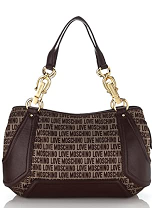 Love Moschino Shopping beige/testa di moro