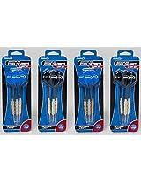 "12 Halex ""Competition 1000"" Steel Tip Darts, 6 Black and 6 Blue"