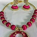 dark pink necklace set