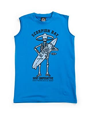 Scorpion Bay Camiseta SM Calavera Surf (Azul)