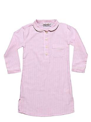 Honey Camicia da Notte Flanella 100% Cotone Nancy Girl (Rosa)