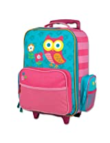 Stephen Joseph Little Girls'  Rolling Luggage Owl, Teal, One Size