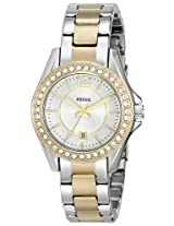 "Fossil Women's ES2880 ""Riley"" Two-Tone Stainless Steel Watch"