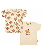 Kids Studio Kid Studio Printed Tees Pack Of 2 - Cream (0 - 12 Months)