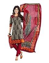 JAVULI pure cotton salwar suit dress material : K-4620