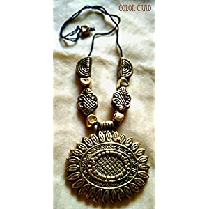 Color Crab - Tribal Vintage Neckpiece