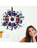 UberLyfe World Tour Wall Clock cum Wall Sticker for Home Décor