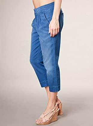 7 for all Mankind 3/4 Hose Crop Cigarette (mittelblau denim)