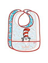Bumkins Dr. Seuss Easy Wipe Bib, Blue Cat in the Hat, 2-Count