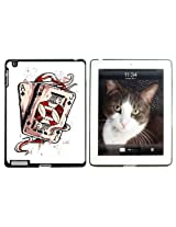 Ace Jack of Spades - Deck Cards Poker Gambling - Snap On Hard Protective Case for Apple iPad 2 3 4 - Black