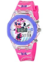 Disney Kids' MINKD504 Light-Up Minnie Mouse Digital Watch with Printed Pink Band