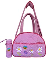 Little Pipal Ibby Daisies Diaper Bag + Baby Bottle Cover