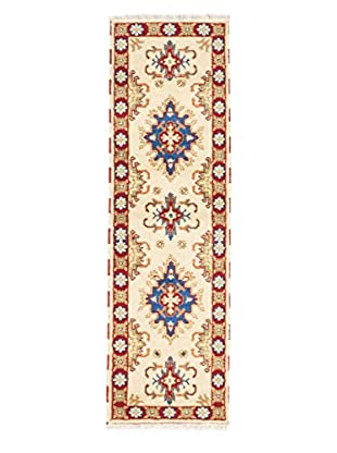 Hand-Knotted Royal Kazak Rug, Cream, 2' 1