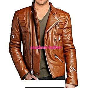 The Dharavi market Mens Leather Jacket - Brown