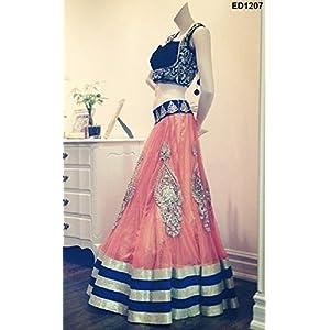 Festive Wear Anarkali Lehenga with Embroidery -Bridal Wedding Function Designer Lehenga Choli by Loveable