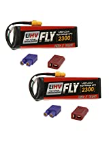 Venom Fly 25 C 4 S 2300m Ah 15.2 V Li Hv Battery With Universal 2.0 Plug (Xt60/Deans/Ec3) For Rc Airplane & Helicopter X2 Packs
