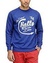 Yepme Men's Poly Cotton SweatShirt (YPMSWEAT0090_Blue_X-Large)