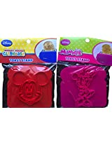 Disney Mickey Mouse And Minnie Mouse Pack Of 2 Toast Stamp The Most Magical Breakfast Toy You Can Have , Easy To Use