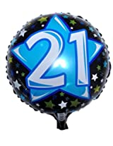 Madcaps 21 Birthday Foil Balloon (Pack Of 2)