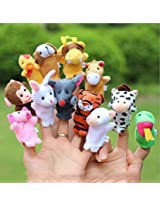 Finger Puppets Chinese Zodiac Animal Zoo 12 Pcs Educational Toy For Kids By Lanlan