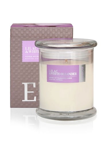 Ecoya Botanicals Metro Jar Scented Candle in Lilac and White Oleander