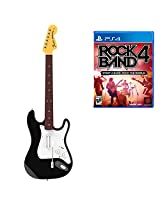 Rock Band 4 Wireless Fender Stratocaster Guitar Controller and Software Bundle (PS4)