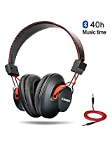 Avantree Audition, Bluetooth over ear Headphones, NFC ,dual mode,wireless & wired 2-in-1,Superb sound, Long music time(40hrs), bluetooth headphones with mic