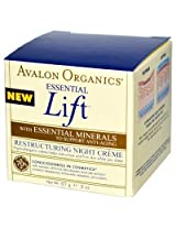 Avalon Organics Essential Lift Restructuring Night Creme - 2 oz