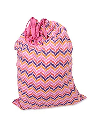 Malabar Bay Zig Zag Laundry Bag, Pink