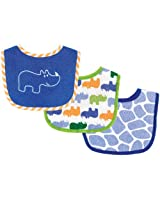 Luvable Friends 3pk baby bibs - Blue Hippo