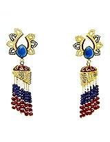Orne Jewels Gold Plated Diamond Pearl Long Jhumki