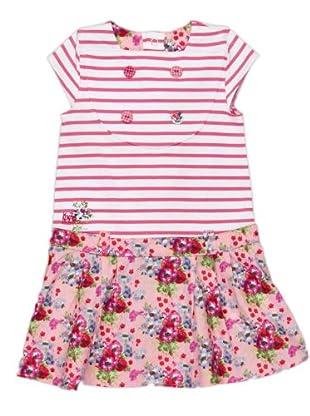 Kenzo Kids Vestido Lazo (blanco / rosa)