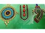 Kundan stones rangoli pattern- shanka chakra design