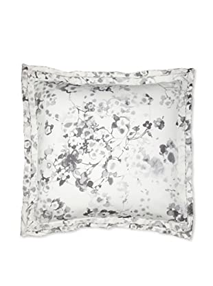 Belle Époque Flower Wave Euro Sham, Grey