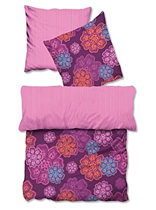 Biberna 635623/173/003 Satin Bettwäsche (Pink)