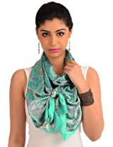 Spring green printed readymade stole