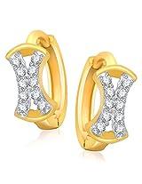 Meenaz Ea7rrings Bali Fancy Gold Plated For Girls And Women In American Diamond B160