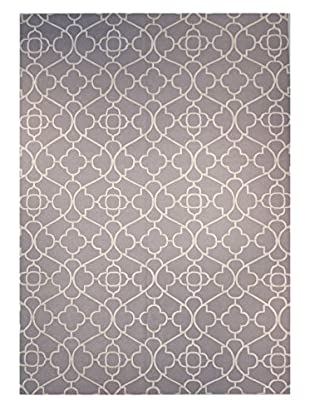 F.J. Kashanian Chelsea Hand-Knotted Rug, Gray/Ivory, 10' 2