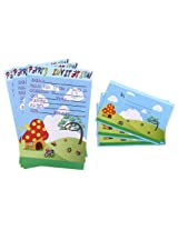 Karmallys Kids Party Invitation Pack - Nature Print